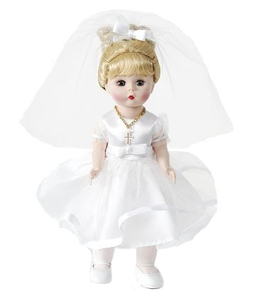 Madame Alexander My First Communion Doll Blonde 8""