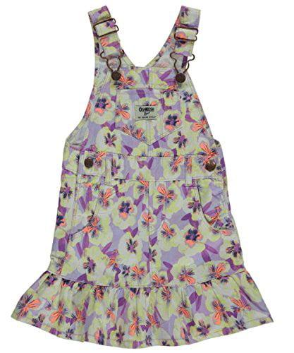"OshKosh Baby Girls' ""Flowery Flounce"" Overall Skirt - Floral, 9 months"