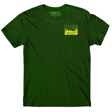 CERT t-shirt, forest green, Community Emergency Response Team t-shirt, Preparedness, Safety Collection Forest Green T-shirt