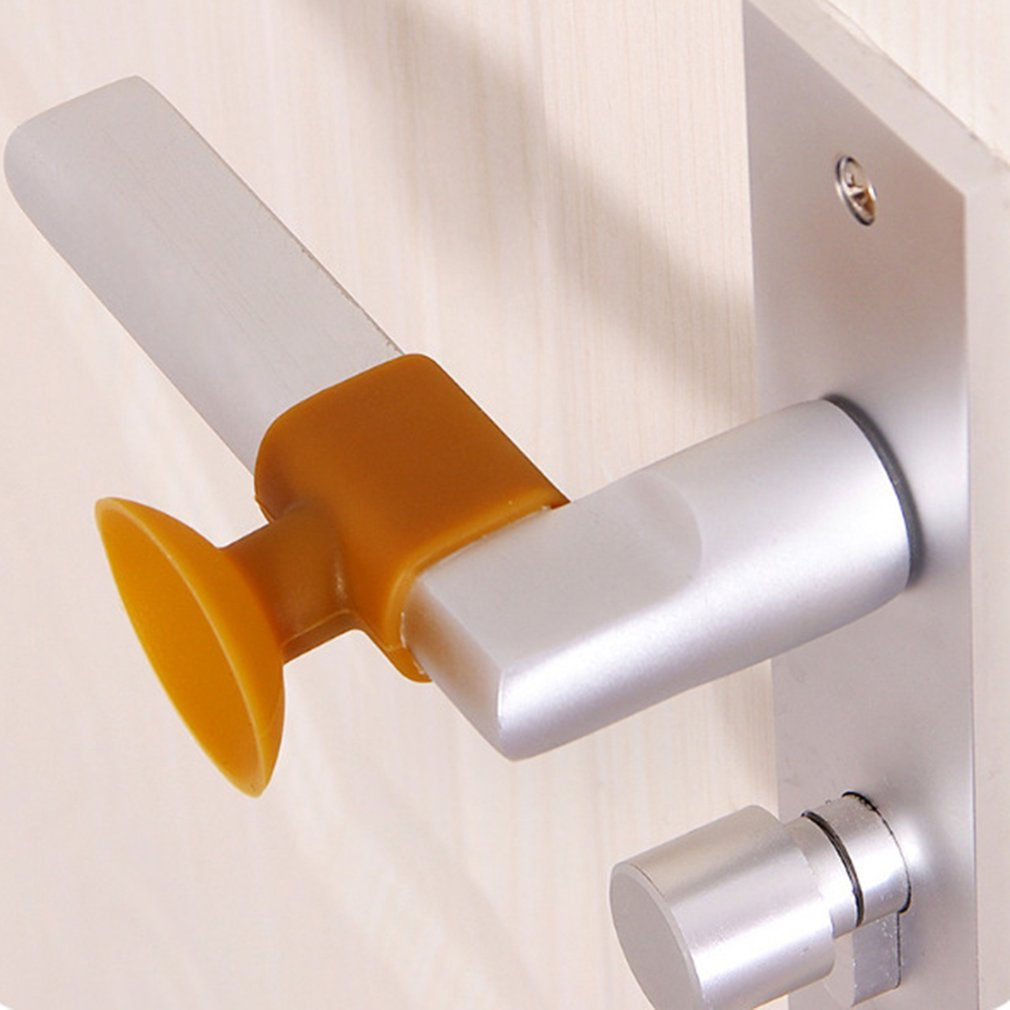 2PCS/SET Soft Silicone Anti-Collision Door Protective Pads Suction Cup Type
