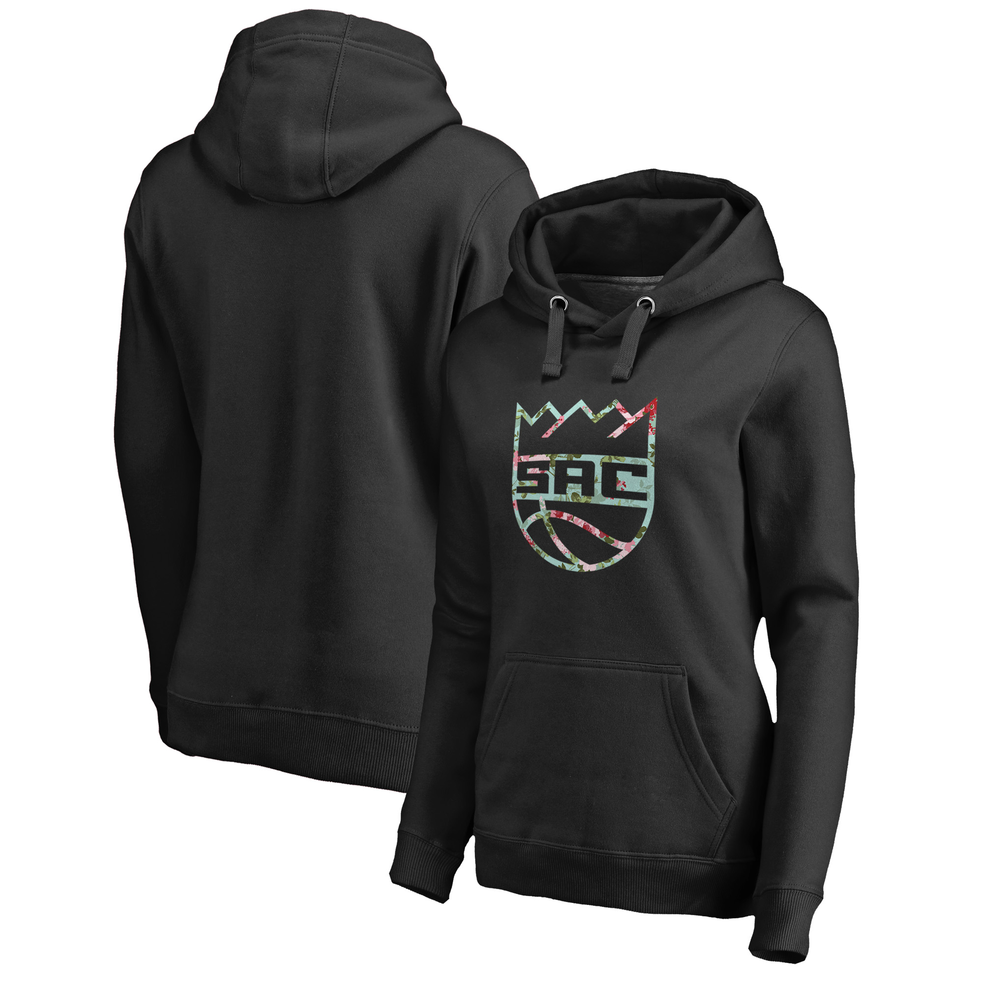Sacramento Kings Fanatics Branded Women's Lovely Pullover Hoodie - Black