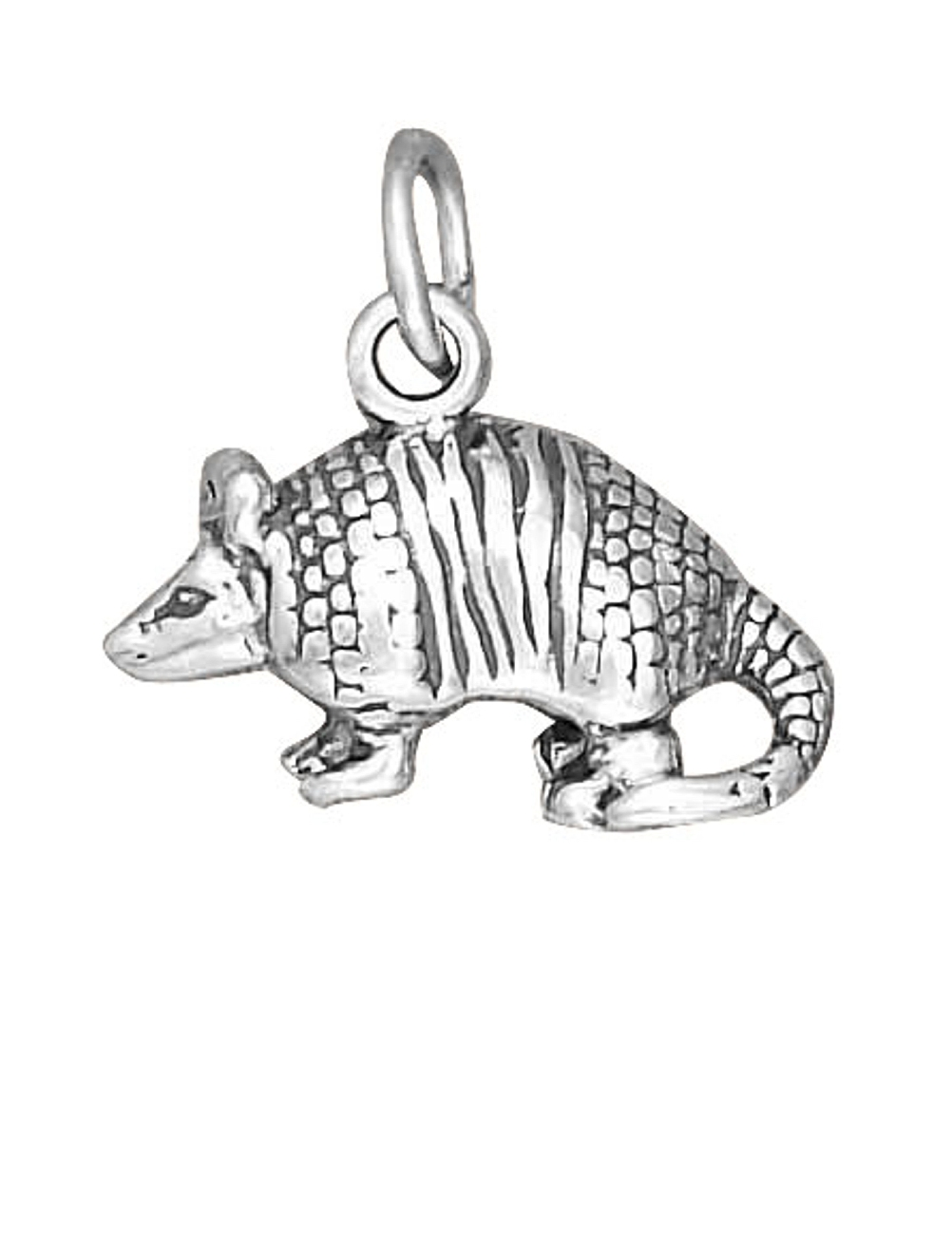 Sterling Silver 7 4.5mm Charm Bracelet With Attached 3D Armadillo Charm