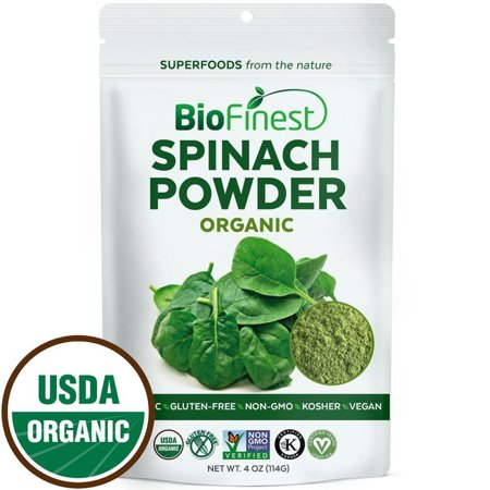 Digestion Immune System - Biofinest Spinach Powder - 100% Pure Freeze-Dried Antioxidants Superfood - USDA Certified Organic Kosher Vegan Raw Non-GMO - Boost Digestion Detox Immune System - For Smoothie Beverage Blend (4 oz)