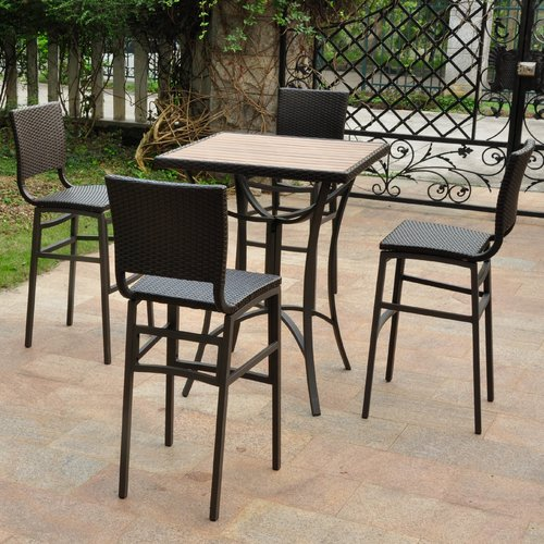 Brayden Studio Katzer 5 Piece Bar Height Dining Set