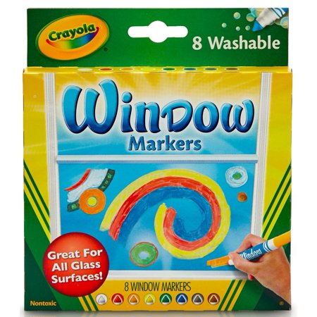 Crayola Washable Window Markers, 8 Count