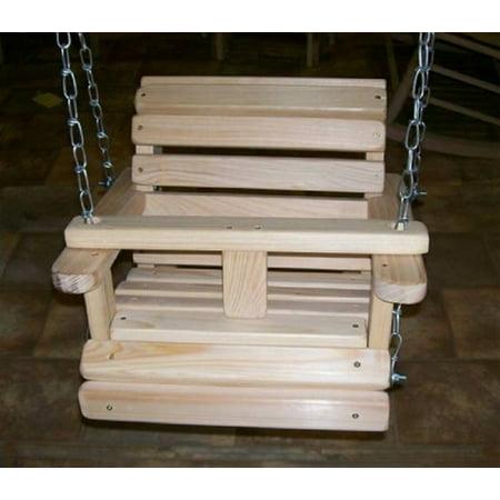 Outdoor Garden Exterior Capacity 100 Lbs Comfort Rust Resistant Stainless Steel Hardware & Thompson Water Seal Baby Cypress Swing (Stainless Steel Garden Furniture)