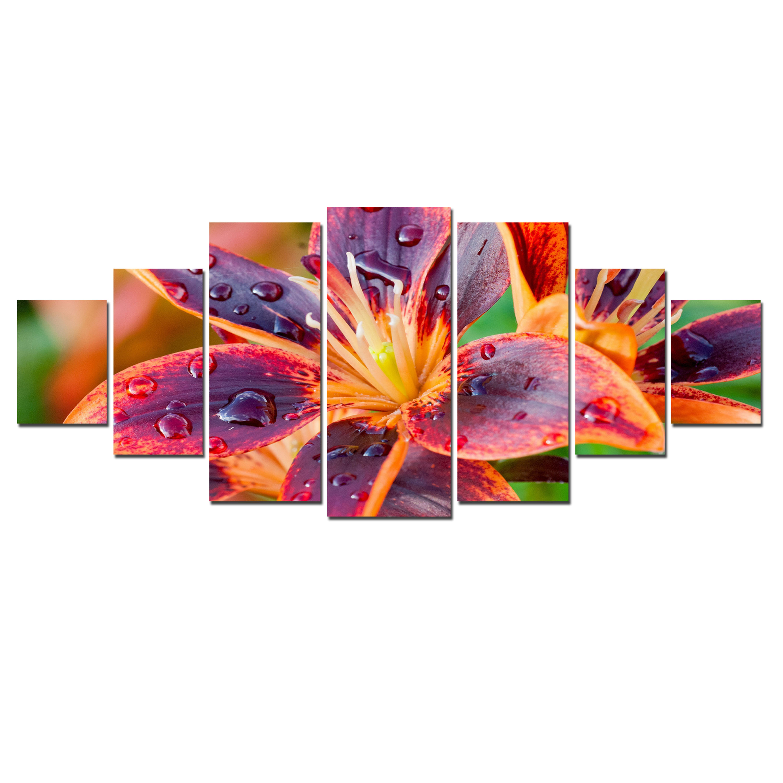 Startonight Huge Canvas Wall Art Multicolored Lily Flower Usa Large