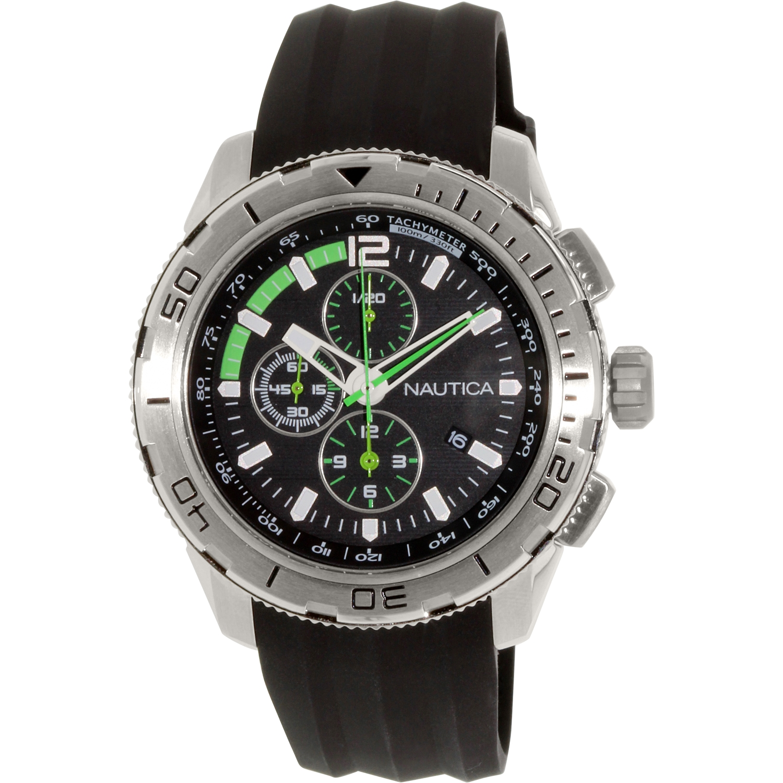 Nautica Men's N18722G Black Silicone Quartz Watch by Nautica