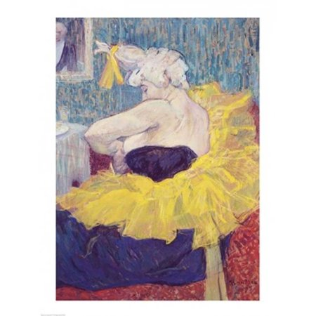 Posterazzi BALXIR36939LARGE The Clowness Cha-U-Kao in A Tutu 1895 Poster Print by Henri De Toulouse-Lautrec - 24 x 36 in. - Large - image 1 of 1