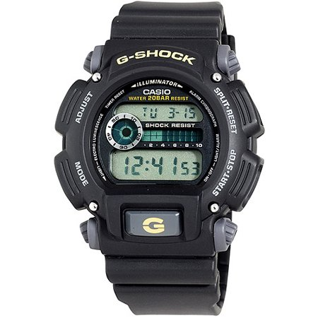 Casio Mens Black G Shock Watch With Electro Luminescent Backlight  Resin