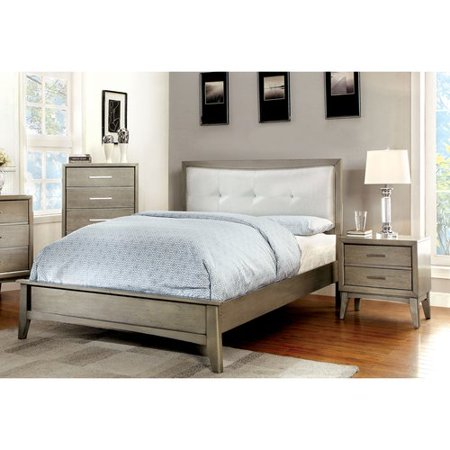 Furniture of America Hilary 3-Piece Gray Bedroom Set, Multiple Sizes