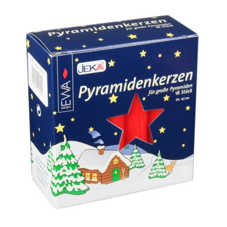 18 Red .7 inch diameter German Christmas Pyramid Candles Made in Germany
