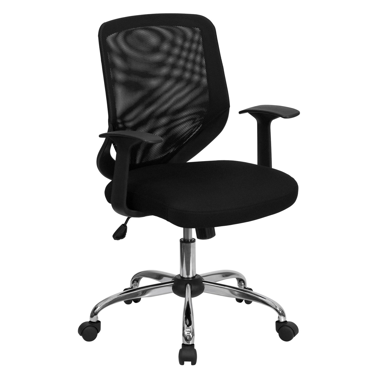 Mesh Office Chair with T-Arms, Black