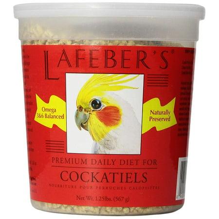 Lafebers Daily Diet - Company Cockatiel Pellets Premium Daily Diet Pet Food, 1.25-Pound, The original bird pellet food By Lafeber