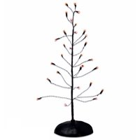Department 56 Orange Twinkle Bright Tree Light Up Halloween Village Accessory