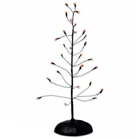 Dept 56 Halloween Village Accessories (Department 56 Orange Twinkle Bright Tree Light Up Halloween Village)