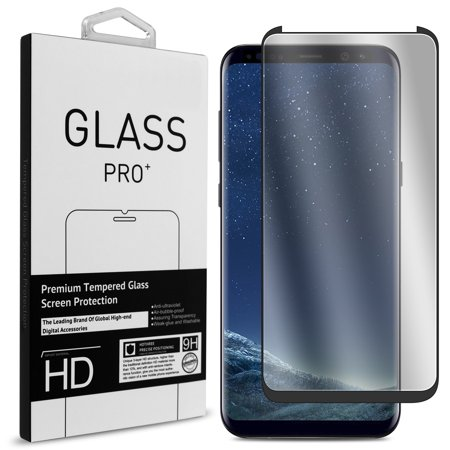 CoverON Samsung Galaxy S8 Plus Tempered Glass Screen Protector - InvisiGuard Series Full Coverage 9H with Faceplate (Case Friendly) Zebra Samsung Faceplates