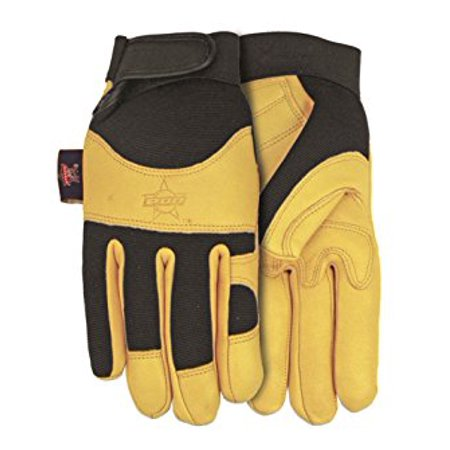 Goatskin Leather (Professional Bull Rider (PBR) Premium Goatskin Leather Work Glove, Extra-Large, PB116)