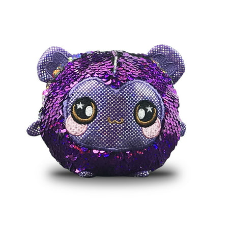 "Squeezamals, Shimmeez Spunky Sparkle Monkey - 3.5"" Super-Squishy Foamed Stuffed Animals w/ two-sided sequins - Walmart EXCLUSIVE!"