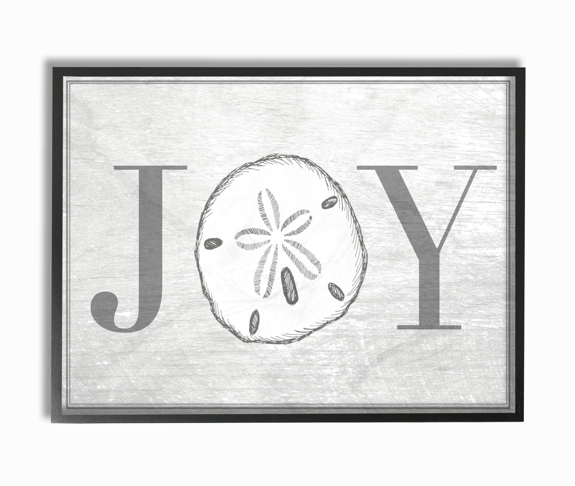 The Stupell Home Decor Collection Joyful Summer Sand Dollar Framed Giclee Texturized Art,... by Stupell Industries