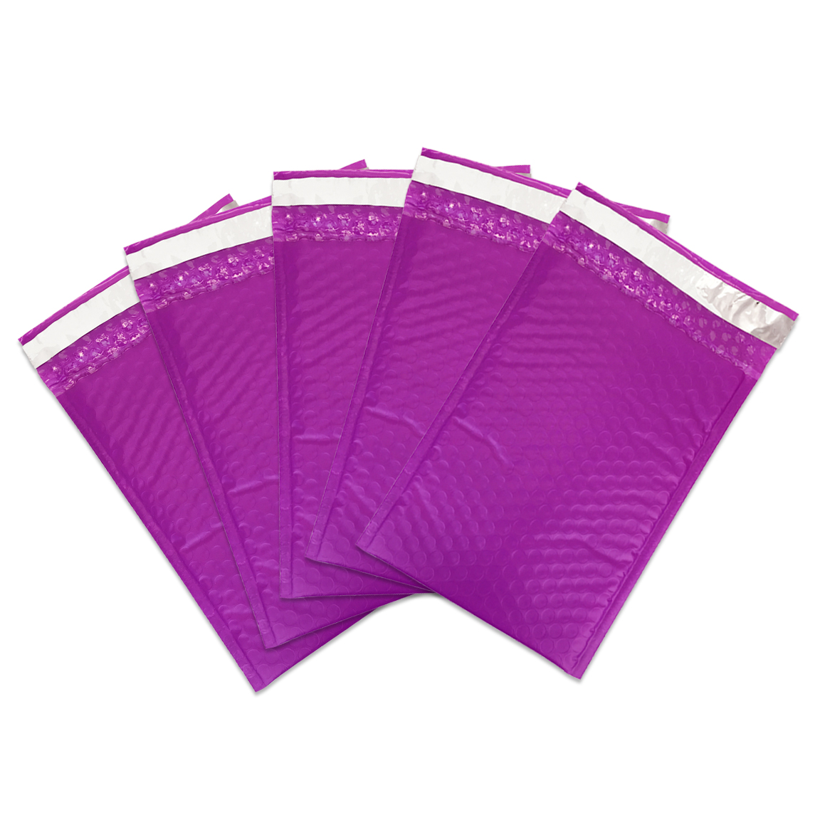 """Beauticom Purple (25 Pieces) 4""""x8"""" Self-Seal Poly Bubble Mailer Envelopes Eco Friendly Lightweight Made in The USA"""