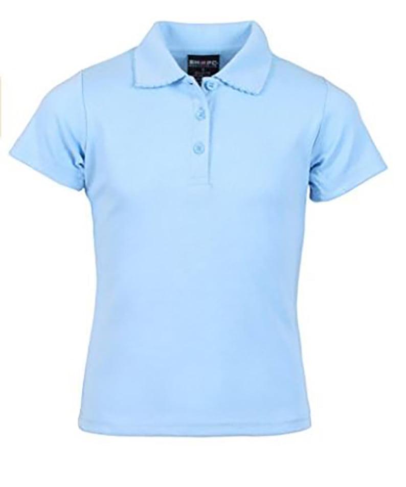 Girl's Uniform Short Sleeve Pique Polo
