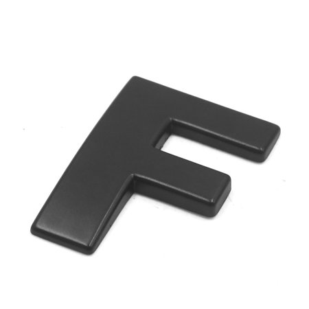 3D Metal F Letter Shaped Alphabet Sticker Car Auto Emblem Badge Decal Black - image 1 de 2