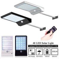 48LED Solar Motion Light Outdoor Street Lamp 3Modes Wall Night Light PIR Motion For Garden Yard Gutter Waterproof IP65 With Remote Control