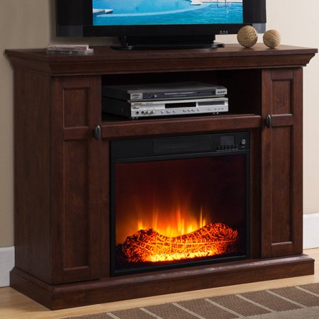 prokonian electric fireplace with 46 mantle with storage wq001 cherry. Black Bedroom Furniture Sets. Home Design Ideas