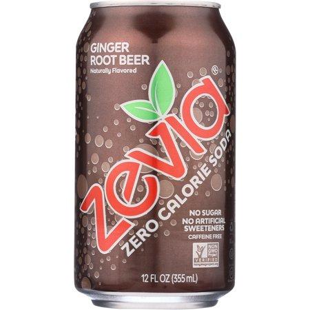 Zevia Zero Calorie Ginger Root Beer, 6 Count (Calories In Best Damn Cream Soda)