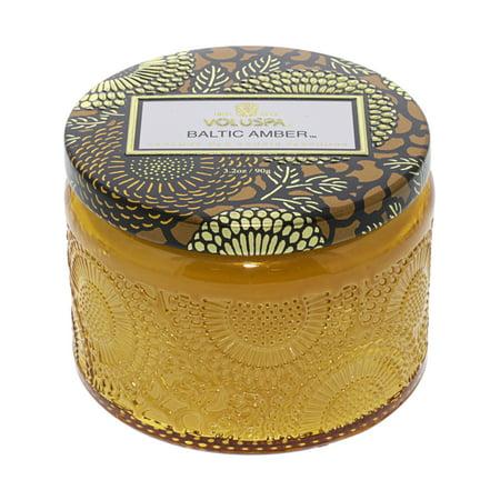 Voluspa Decorative Tin Candle - Voluspa Petite Candle In Colored Jar - Baltic Amber VOL-7243
