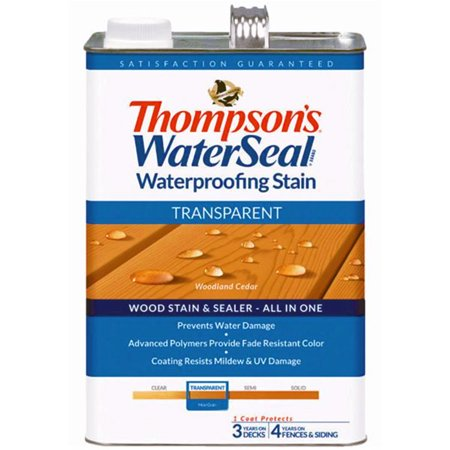 - Thompsons WaterSeal Transparent Waterproofing Stain WOODLAND CEDAR gal