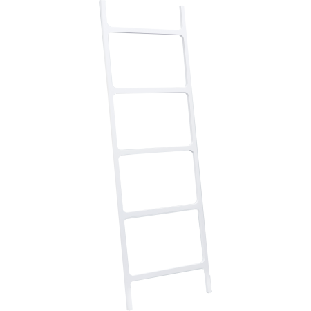 AGM Home Store DWBA Stone Standing Towel Rack Ladder For Bathroom Spa Towel Hanger, White ()