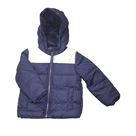 Carter's Little Boys' Navy Quilted Heavyweight Bubble Jacket, 5-Kids