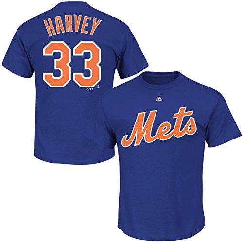 Matt Harvey New York Mets #33 MLB Men's Big and Tall Player T-shirt (XLT)