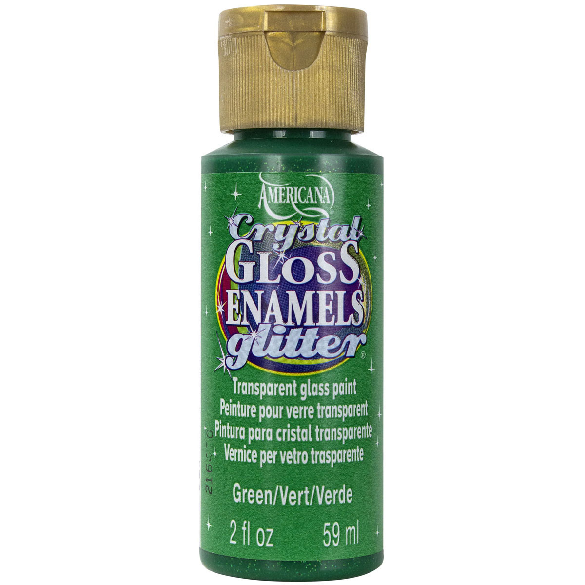 Americana Gloss Enamels Crystal Glitter Acrylic Paint 2oz-Red
