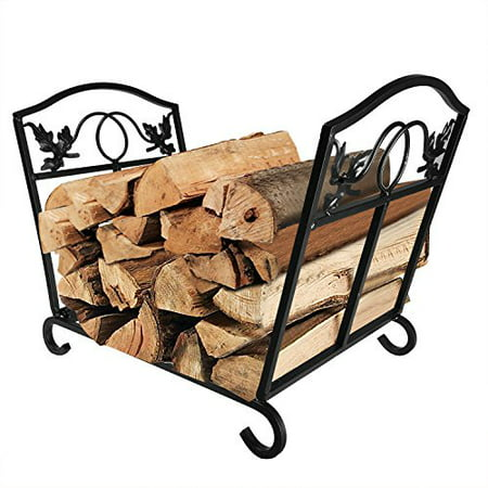 Enjoyable Fireplace Log Holder Wrought Iron Indoor Fire Wood Stove Stacking Rack Logs Bin Firewood Storage Carrier For Outdoor Fireplace Pit Decorative Wood Download Free Architecture Designs Philgrimeyleaguecom