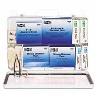 50 Person Industrial First Aid Kits, Weatherproof Steel, Sold As 1 Kit by