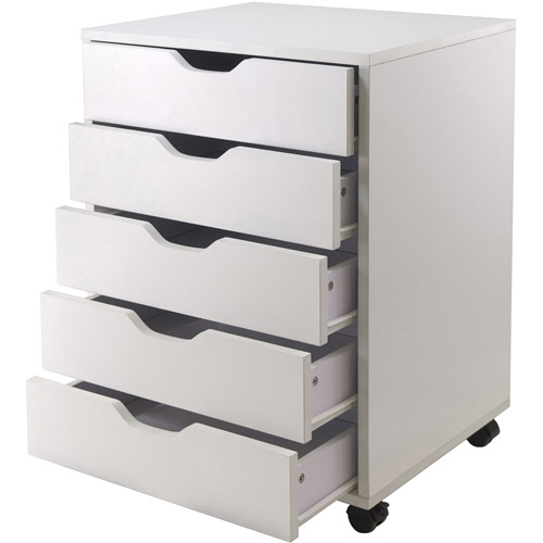 Halifax 5 Drawer Vertcal Wood File Cabinet With Casters, Multiple Finishes    Walmart.com