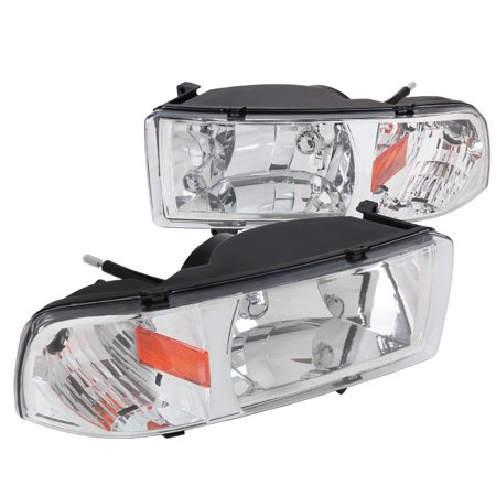 Spec-D Tuning 1994-2001 Dodge Ram 1Pc Headlights 1997 1998 1999 2000 1994 1995 1996 1997 1998 1999 2000 2001 (Left + Right)