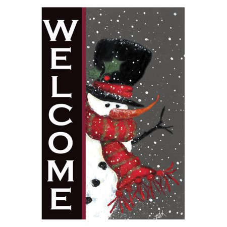 - Toland Home Garden Snowman Welcome Double Sided Flag