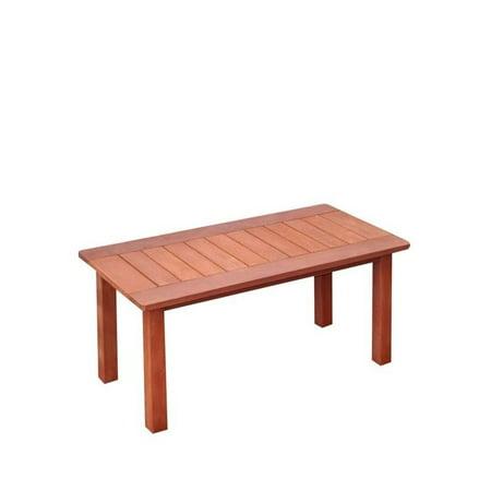 Atlin Designs Hardwood Patio Coffee Table in Cinnamon Brown - image 3 de 3