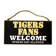 Missouri Tigers Official NCAA 5 inch  x 10 inch  Wood Welcome Sign by SJT Enterprises