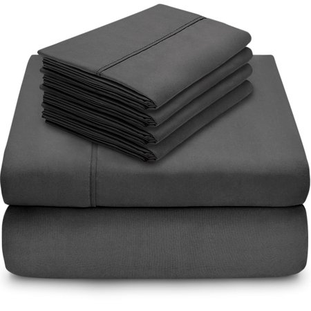 6 Piece 1800 Collection Deep Pocket Bed Sheet Set - Ultra-Soft Hypoallergenic - 2 EXTRA PILLOW CASES (Queen,