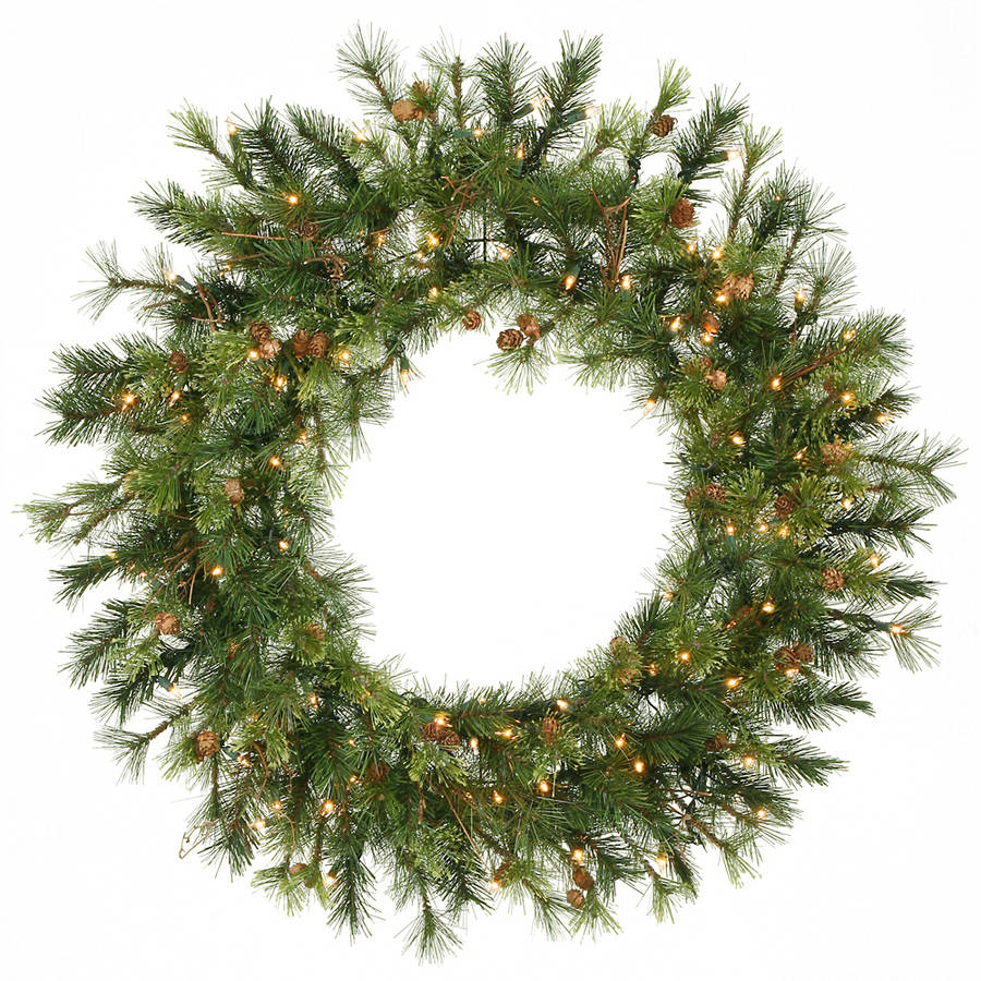 "Vickerman 36"" Pre-lit Mixed Country Wreath 100CL"