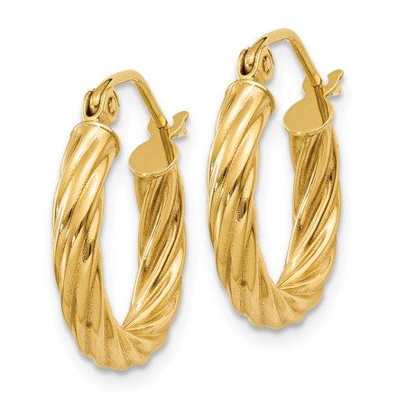 14k Polished 2.75mm Twisted Hoop Earrings TC387 - image 1 de 2
