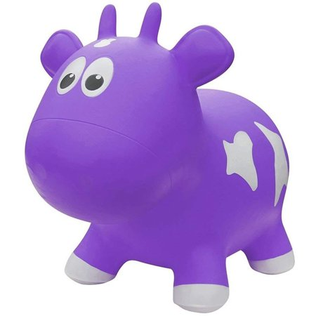 Farm Hoppers Award Winning Inflatable Bouncing Purple Cow Plus Pump