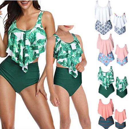 Baby Gril Swimsuits Mommy and Me Bathing Suits Family Matching Two Piece Bikini Set (Matching Bathing Suits)