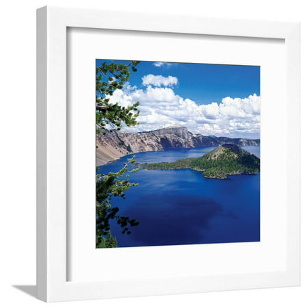 Crater Lake at Crater Lake National Park, Oregon, USA Landscape Photography Framed Print Wall Art