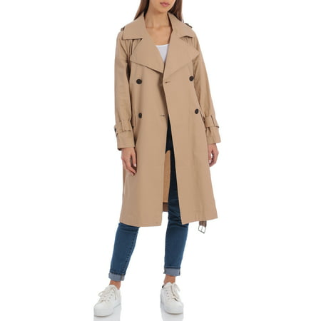 Bagatelle Women's Double Breasted Trench Coat
